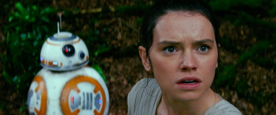 Star Wars: The Force Awakens..L to R: BB-8 and Rey (Daisy Ridley)..Ph: Film Frame..? 2014 Lucasfilm Ltd. & TM. All Right Reserved..