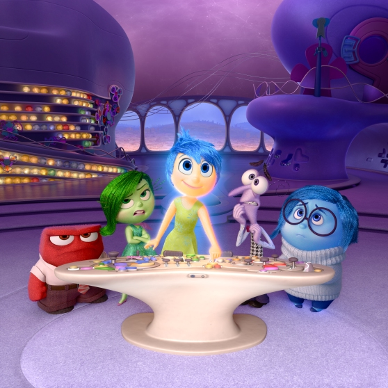"Disney?Pixar's ""Inside Out"" takes us to the most extraordinary location yet - inside the mind of Riley. Like all of us, Riley is guided by her emotions - Anger (voiced by Lewis Black), Disgust (voiced by Mindy Kaling), Joy (voiced by Amy Poehler), Fear (voiced by Bill Hader) and Sadness (voiced by Phyllis Smith). The emotions live in Headquarters, the control center inside Riley's mind, where they help advise her through everyday life. Directed by Pete Docter and produced by Jonas Rivera, ""Inside Out"" is in theaters June 19, 2015."